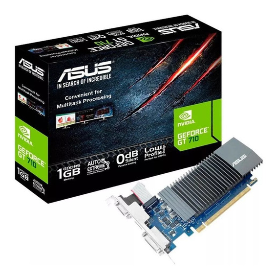 Placa De Vídeo Asus Geforce Gt 710 1gb Gddr5 - Gt710-sl-1gd5