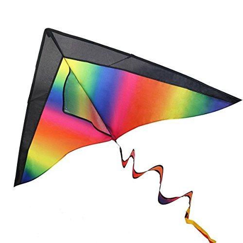 Ibasetoy Huge Rainbow Kite Para Niños Y Adultos Con String Y