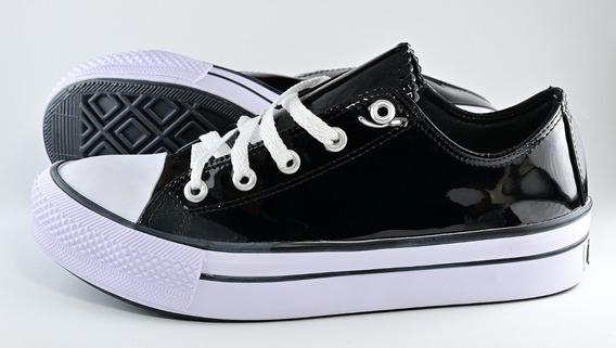 Zapatillas 4u Charol Negro