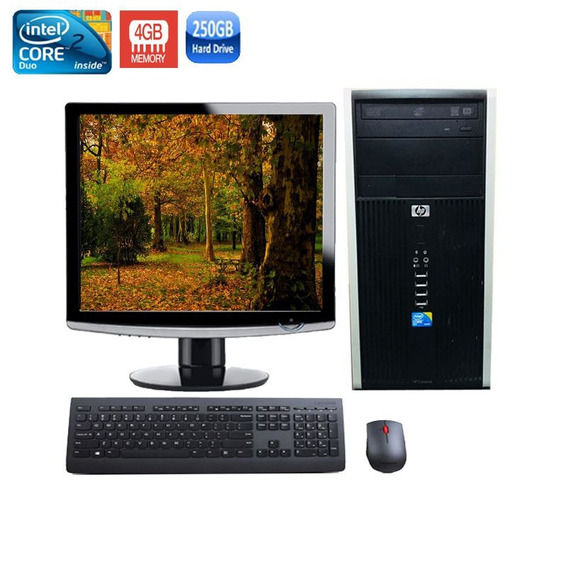 Computador Completo Hp 6000 Core 2 Duo 4gb Hd 250gb + Wi-fi