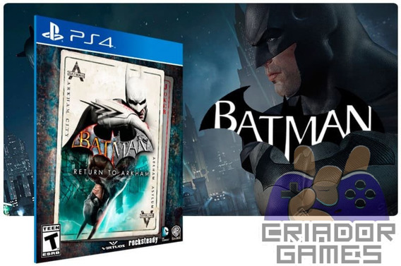 Batman Return To Arkham Ps4 Digital Psn Vitalício