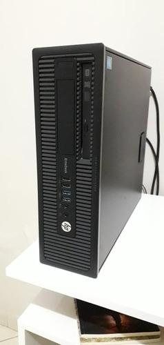 Imagem 1 de 7 de Hp Elitedesk 800 G1 Core I7 + Placa De Vídeo + Monitor