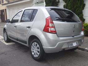 Renault Sandero 1.0expression Hi-flex 2012 Prata Completo