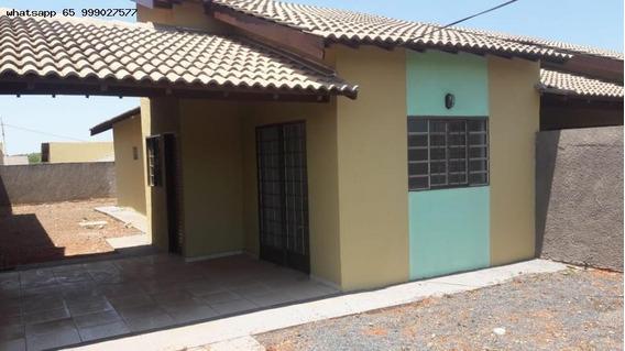 Casa Para Venda Em Várzea Grande, São Simão, 2 Dormitórios, 1 Banheiro - 341_1-1326104