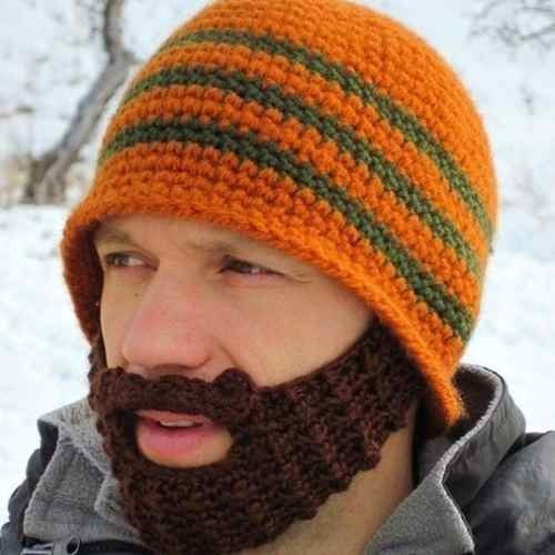 Gorro Invernal Con Barba Tejida Quita Frio Super Original