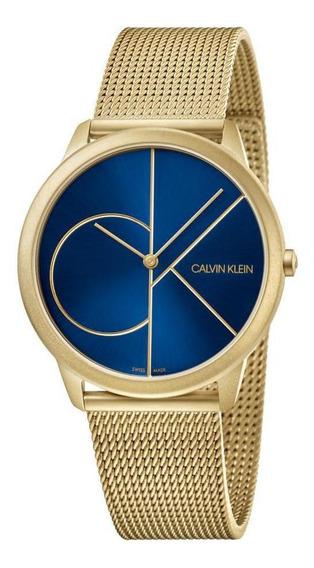 Relógio Masculino Calvin Klein Minimal Aço Rosegold K3m5155n