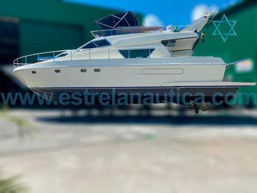 Lancha Ferretti 50 Barco Iate N Azimut Fishing Intermarine