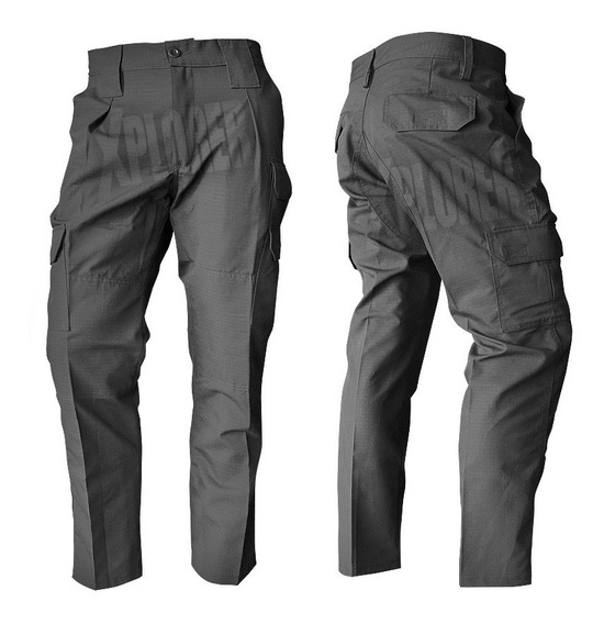 Pantalon Cargo Tactico Rescue Negro Rip Stop Antidesgarro