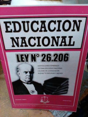 Educacion Nacional Ley 26206 Inclan Mercado Libre