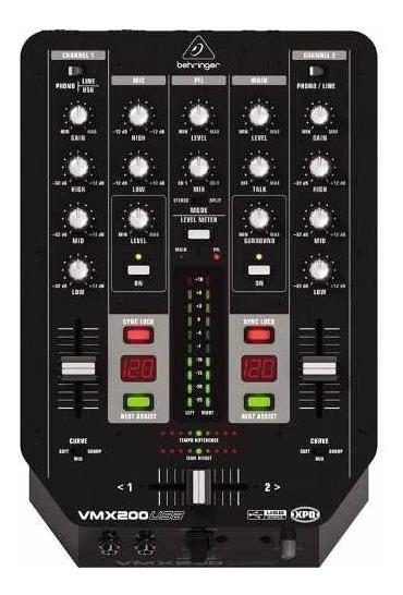 Mixer Behringer Vmx200 Para Dj Com 2 Canais Usb
