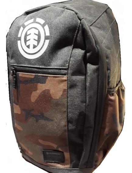 Mochila Element Sparker Backpack Black Negro Camo