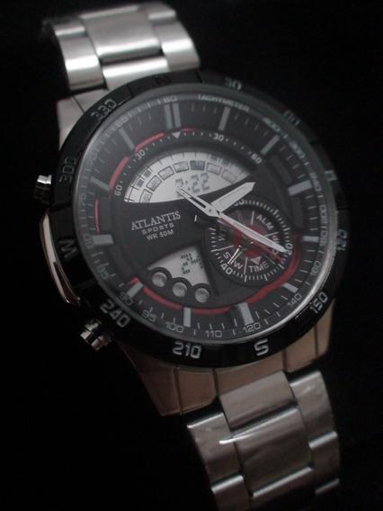 Relógio Masculino Atlantis Resistente À Água ! Não É Réplica