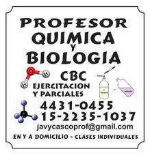 Clases Particulares Química Y Biología. Cbc. Profesor