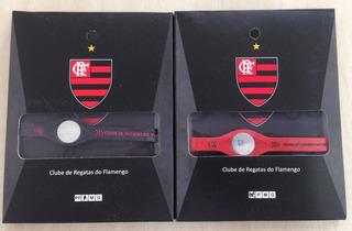 Pulseira Com Holograma - Flamengo - Preto