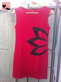 Exclusivo Vestido,diseño Flor,talla S,color Rojo !!!!