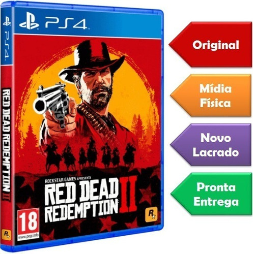 Red Dead Redemption 2 Ps4 Mídia Física Lacrado Novo Original