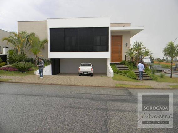 Casa Com 4 Dormitórios À Venda, 362 M² Por R$ 2.700.000 - Condomínio Alphaville I - Sorocaba/sp, Próximo Ao Shopping Iguatemi E Colégio Objetivo. - Ca0037