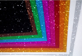 10 Unidades Folha De Eva Com Glitter 40 X 60 Cm