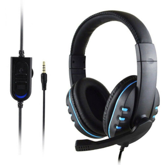 Gaming Fone Estéreo Headphone 3,5 Milímetros Wired Mic Para
