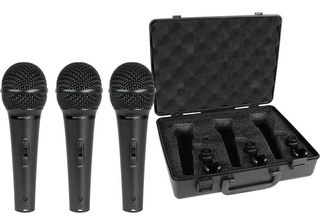 Set De 3 Micrófonos Behringer Xm1800s (3pzs) Envio Inmediato
