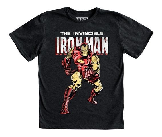 Playera Iron Man Niño Mascara De Latex Marvel Avengers