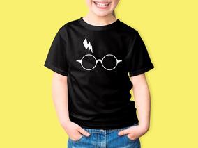 Camiseta Infantil Harry Potter Oculos Raio 100% Algodão