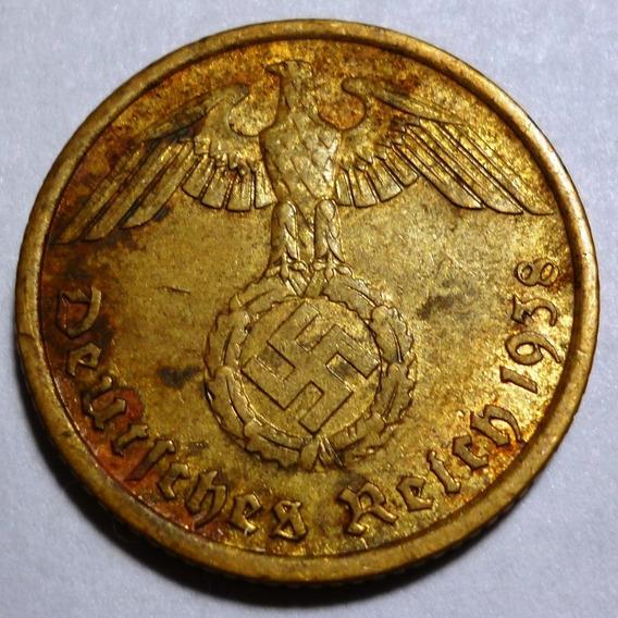 Alemania Moneda Bronce 10 Pfennig Vf 1938 A Nazi