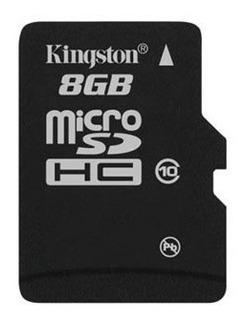 Cartão De Memória Kingston Classe 10 8gb + Adaptador Grátis