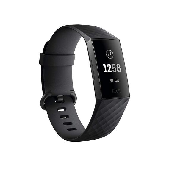 Fitbit Charge 3 Grafite/preto Monitor Cardiaco Chamadas Sono