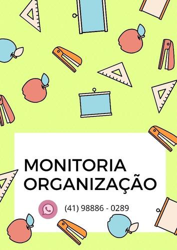 Imagem 1 de 1 de Monitoria Organização Pessoal Para Estudos