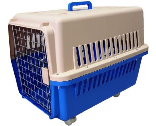 Jaula Transportadora Perros Medianos Con Ruedas / 18 Cuotas