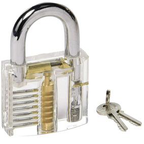 Cadeado Acrílico Transparente 50mm 7 Pinos Para Treinamento
