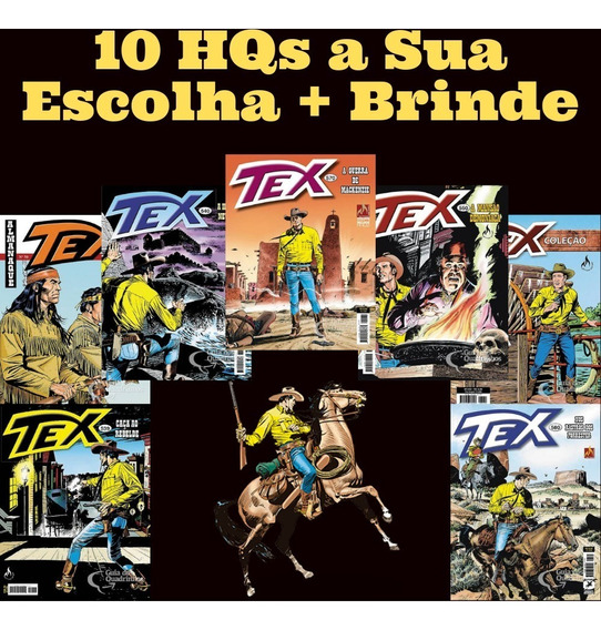 Kit 10 Hq Gibi Revista Tex A Escolher + Brinde Imperdível