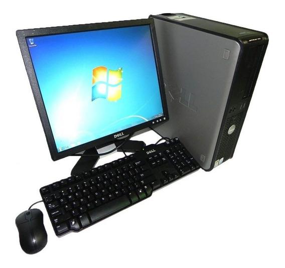 Cpu Dell 780 Core 2 Duo 4gb Ddr3 Hd 500gb Wifi + Monitor 17
