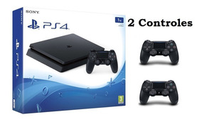 Sony Playstation4 Ps4 Slim 1tb Bivolt Cuh-2215b 2 Controles
