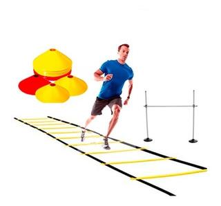 Set Kit Entrenamiento (escalera + 10 Conos + Valla Salto )