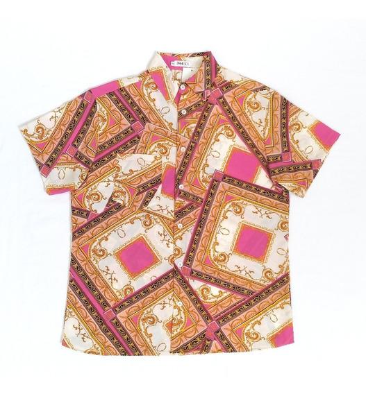 Camisa De Botão Lenço