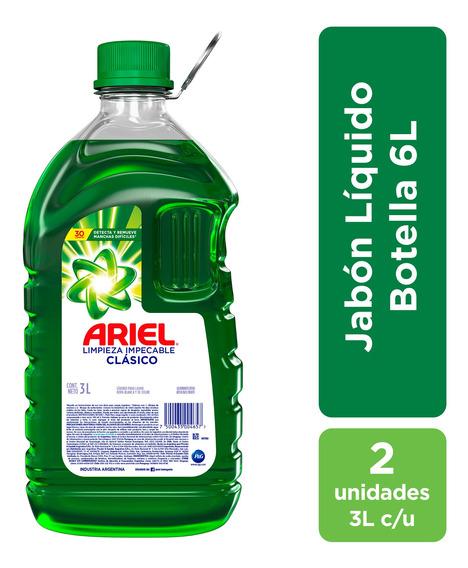 Jabón Líquido Para Ropa Ariel 3 L - Pack X2