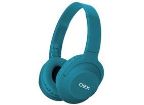 Fone De Ouvido Oex Hs307 Headset Flow Bluetooth Azul