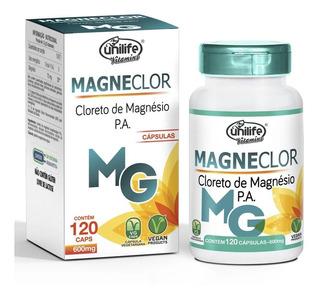Magneclor Cloreto De Magnésio Pa Puro Unilife (120 Cápsulas)