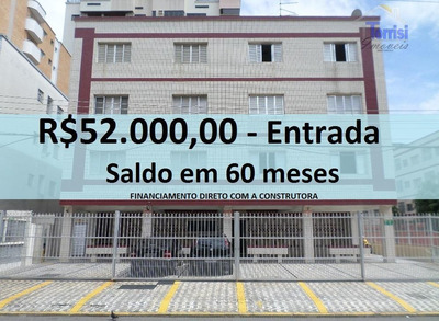 Apartamento Em Praia Grande, 01 Dormitório, Na Vila Tupi Ap1247 - Ap1247