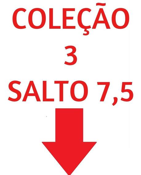 03 Pares Sandália Sapato Feminina Chiquiteira Chiqui/9873