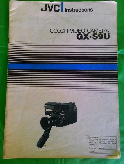Manual Jvc Instructions Color Video Camera Gx S9u Usado