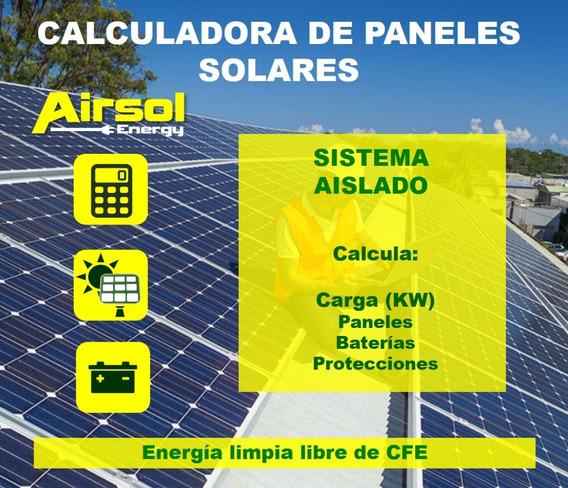 Calculadora De Paneles Solares Tipo Aislado