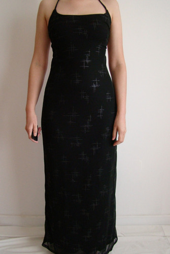 Vestido Largo Negro Con Brillitos. De Fiesta