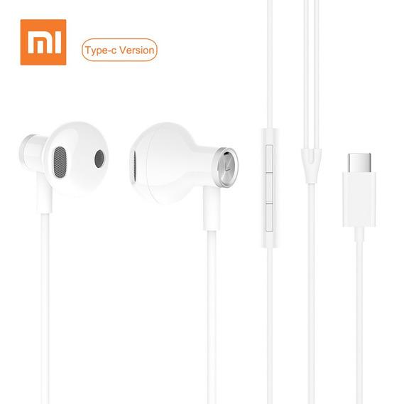 Xiao-mi Usb Tipo-c Fones De Ouvido Controle Com Fio