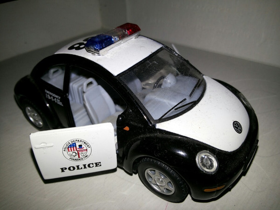 Vw Escarabajo New Beetle Policia Escala 1/32 Kinsmart