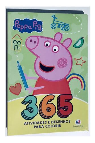 Imagem 1 de 6 de Livro De Atividades Para Colorir Infantil 365 Peppa Pig