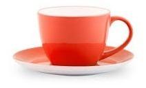 Taza Cafe Plato Vajilla Colores Barista Arte Latte Cafeteria