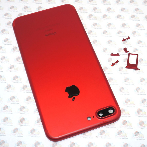 Tapa Trasera Carcasa + Botones + Bandeja iPhone 7 Plus Rojo